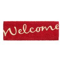 Kokosfußmatte Ruco Print Welcome rot