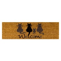 Kokosfußmatte Welcome Cats mini