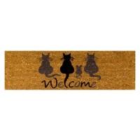 Kokosfußmatte Welcome Cats mini