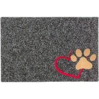 Fußmatte Noblesse Hundepfote anthrazit