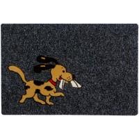 Fußmatte Noblesse Hund anthrazit