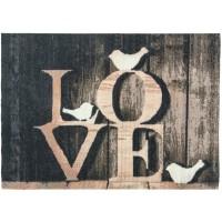 Fußmatte top print Love
