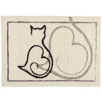 Fußmatte colour print Katze Herz