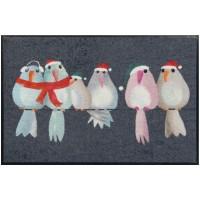 Fußmatte Wintervögel