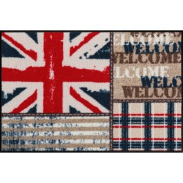 Fußmatte Salonloewe Design Union Jack Patchwork 75 cm x 120 cm