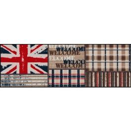 Fußmatte Salonloewe Design Union Jack Patchwork 60cm x 180cm