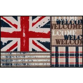 Fußmatte Salonloewe Design Union Jack Patchwork 50 cm x 75 cm