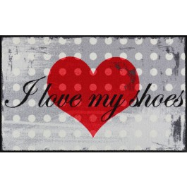 Fußmatte Salonloewe Design I love my shoe's 50cm x 75cm
