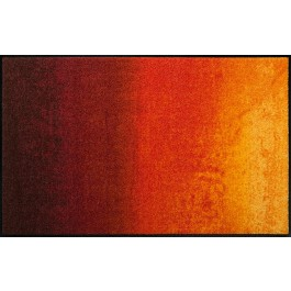 Fußmatte Salonloewe Design Shabby Orange 75 cm x 120 cm