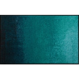 Fußmatte Salonloewe Design Shabby Petrol 75 cm x 120 cm