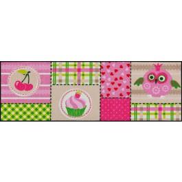 Fußmatte Salonloewe Design Pink Cottage 60cm x 180cm