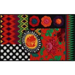 Fußmatte Salonloewe Design Black Beauty 75 cm x 120 cm