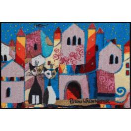 Fußmatte Salonloewe Design Little Town 50cm x 75cm