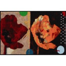 Fußmatte Salonloewe Design Anna's Mohn 75cm x 120cm