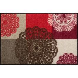 Fußmatte Salonloewe Design Alina Rot 50 cm x 75 cm