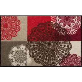 Fußmatte Salonloewe Design Alina Rot 75 cm x 120 cm