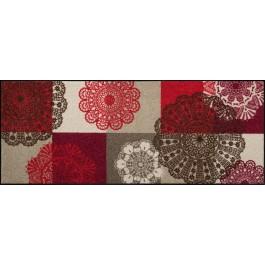 Fußmatte Salonloewe Design Alina Rot XXL