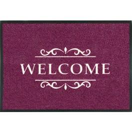 Fußmatte Easy Clean Mats Welcome bordeaux