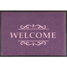 Fußmatte Easy Clean Mats Welcome violett