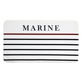 Badematte Marine white