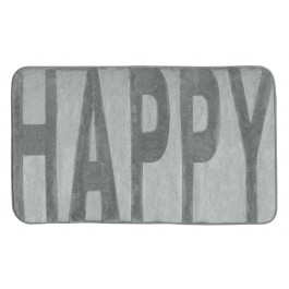 Badteppich Memory Foam Happy grau