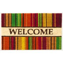 Kokosfußmatte Cocoprint Colori Welcome Streifen