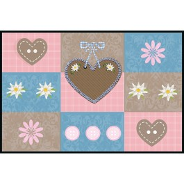 Fußmatte Eurographics Sweet Hearts 60x90
