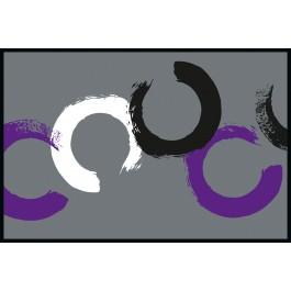 Fußmatte Eurographics Plum Circles 50cm x 75cm