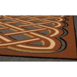 Fußmatte Labyrinthmuster braun