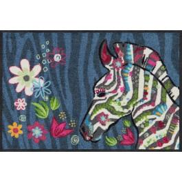 Fußmatte Hippie Zebra blau