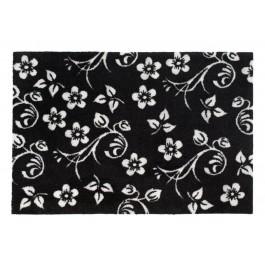 Fußmatte Black Flowers