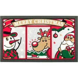 Fußmatte Christmas Friends Glitzer