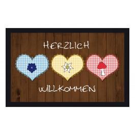 Fußmatte Deco & Wash Herzlich Willkommen