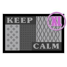Fußmatte Deco & Wash Keep Calm XL