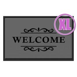 Fußmatte Deco & Wash Welcome grau XL
