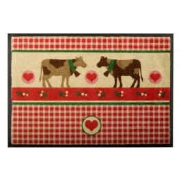 Fußmatte Easy Clean Mats country cows red