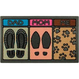 Fußmatte Fußspuren Familie