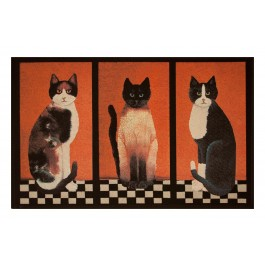 Fußmatte Gallery drei Katzen
