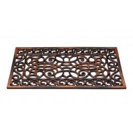 Fußmatte Inca Kupfer rechteckig detail