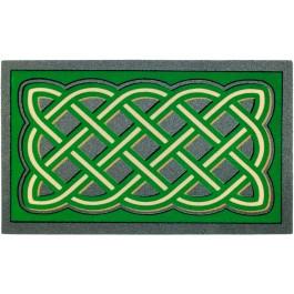 Fußmatte Labyrinthmuster verde
