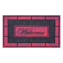 Fußmatte Master Welcome red