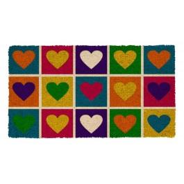 Fußmatte Pop art hearts Kokos