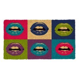 Fussmatte Pop art lips Kokos