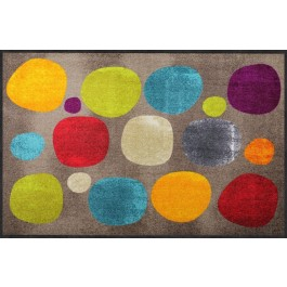 Fußmatte Salonloewe Broken Dots Colourful big XXL
