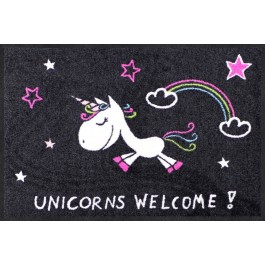 Fußmatte Unicorns Welcome Rainbow