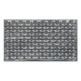 Fußmatte Steel Silber