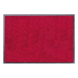 Fußmatte Uni rot