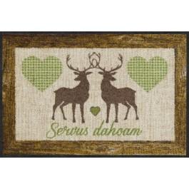 Fußmatte Vichy Deers green