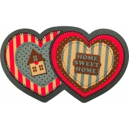 Fußmatte Vintage Hearts