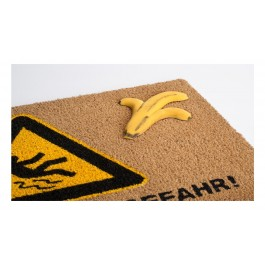 Fußmatte Vorsicht Rutschgefahr Kokos detail